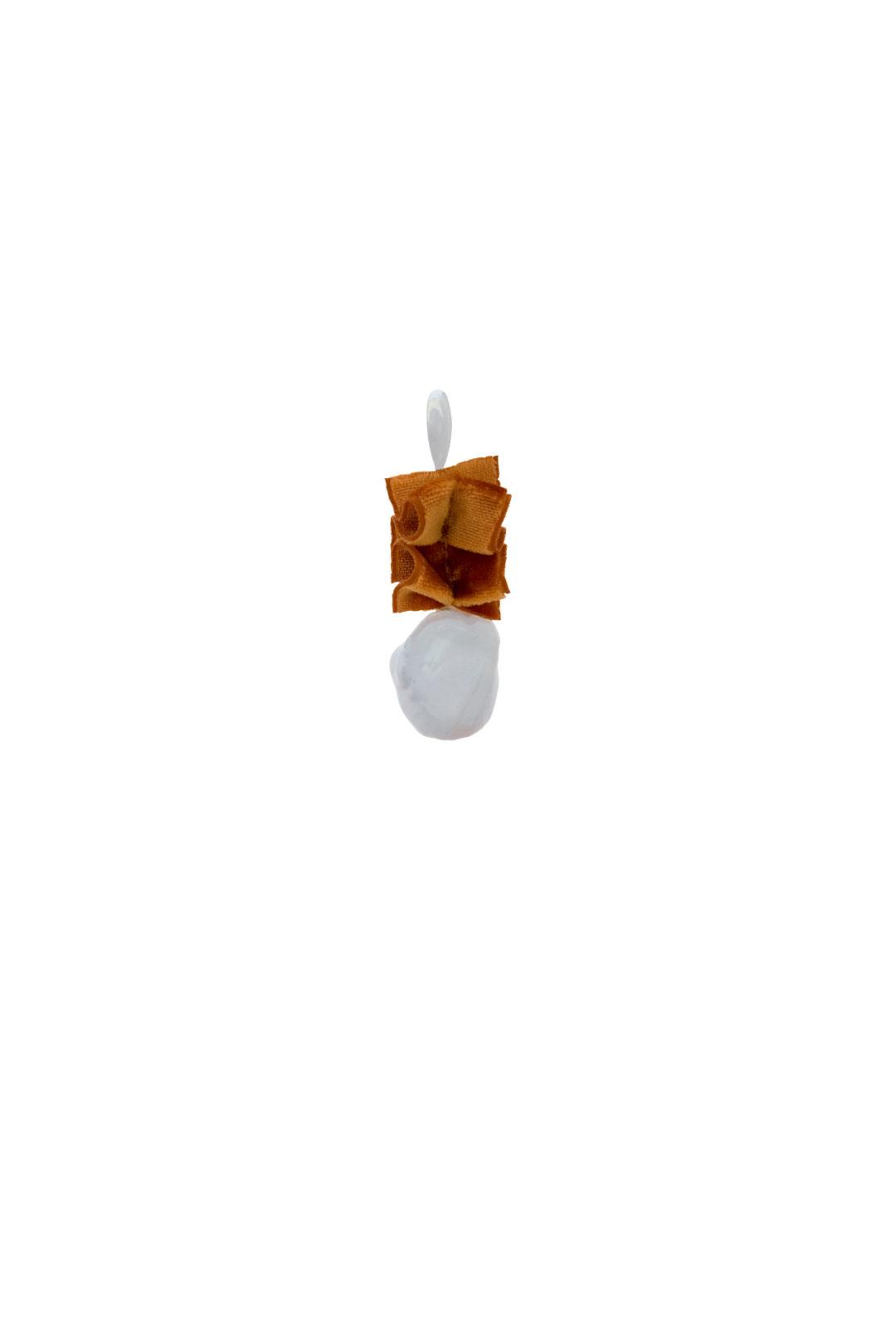Einzelner Ohrhänger Scarlett in Orange