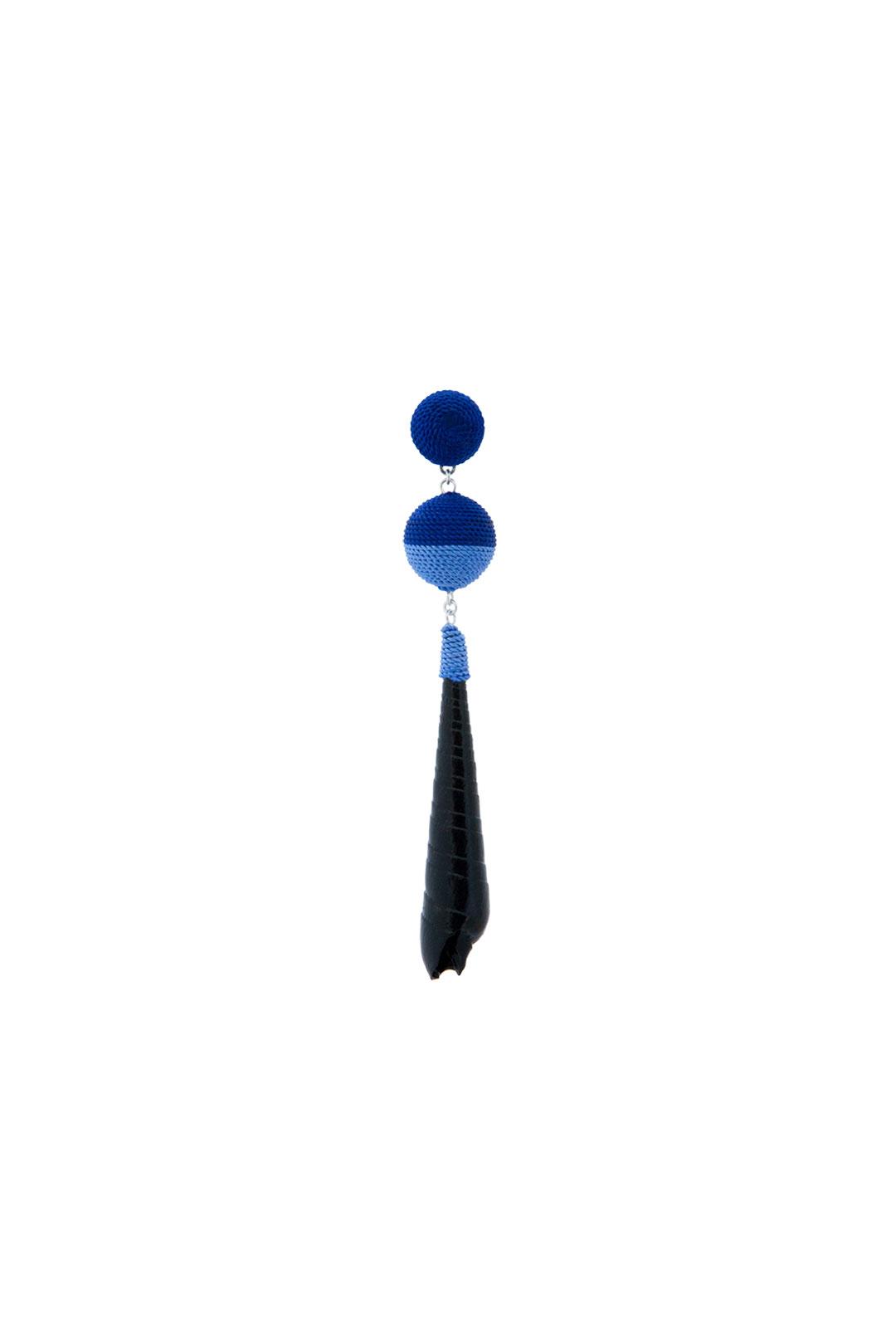Muschelohrring Kaya Blau