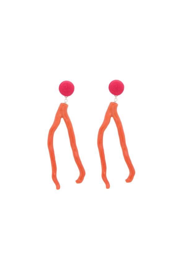 Ohrringe Alisa in Pink, lang