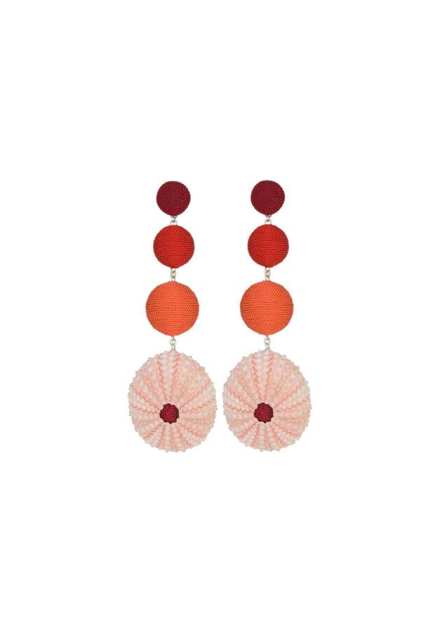 Ohrringe Bella in Rot / Koralle