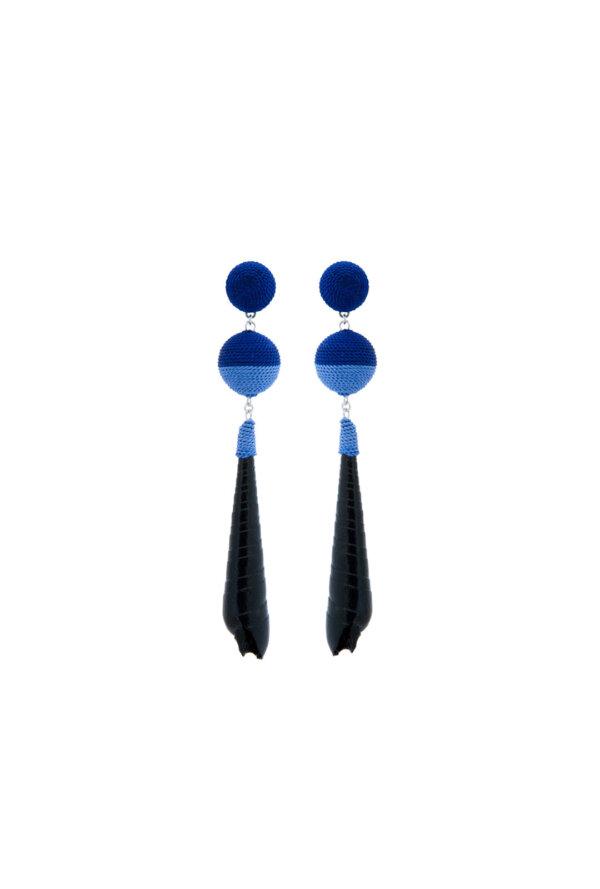 Muschelohrringe Kaya in Blau